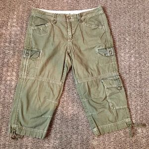 Eddie Bauer - Green Capri utility pants